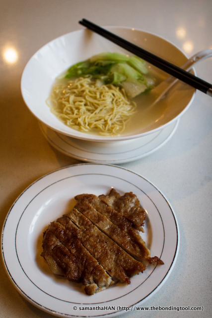 Pork Chop was served separately from the noodle soup so as not to pollute the broth with grease.