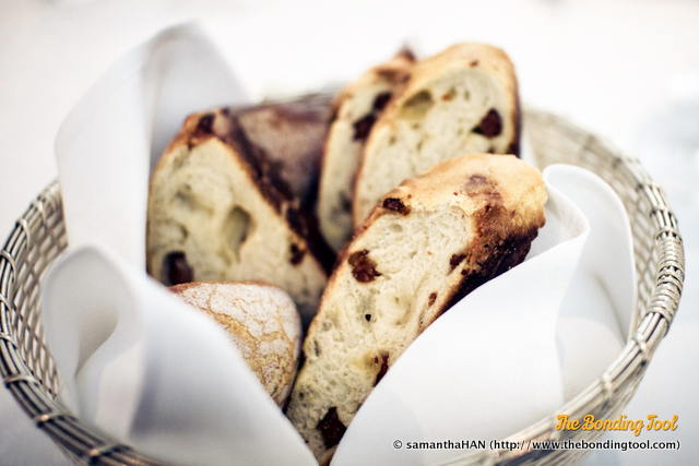 Assorted Bread Basket.<br />I loved the ones with chorizo and caramelised onions.