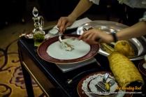 Robalo assado no forno com crosta de sal da Ria Formosa. Baked fresh Sea Bass in Formosa River salt crust. 鹽焗鱸魚. $MOP 320.00