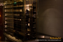 Lobby area outside the restaurant displaying small portion the fine wines. The restaurant's wine cellar shares about 10,000 labels with 15 other restaurants under Lisboa's roof.