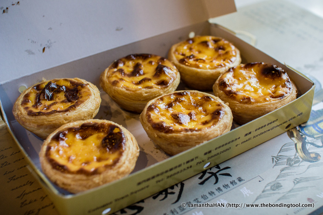 I queued for about 10 minutes and got 12 egg tarts for MOP90 (MOP = Macau currency).