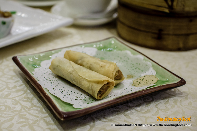 Spring Rolls filled with mashed Yam. Not a common item and didn't make an impact on me.