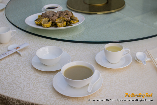 It is also a usual practice that soup is the first course whenever possible. The soup was tasty and full bodied.