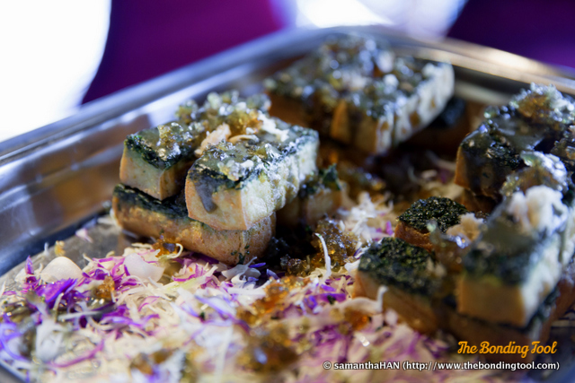 Century Egg Fried Spinach-Tofu.