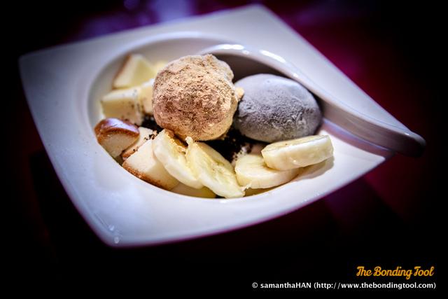 Oreo-sesame and Marshmallow Crème Parfait.