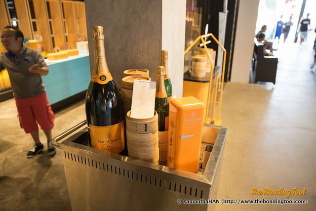 We are having free flow Veuve Clicquot for lunch today. Yay!!!