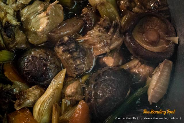 Stewed Chicken and Mushrooms.
