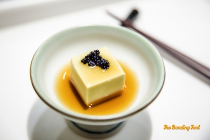 Crab Tofu with Japanese Caviar.