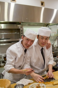 Chef Lawrence works very closely with his other chefs.