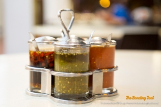 Four types of Chilli Dipping Sauces offered