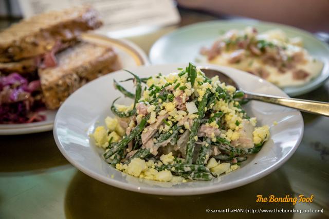 Nicoise Salad - S$12.00 Tuna, Fine Beans, Olives, Anchovies, Tomatoes, Aioli, Egg and Potato.