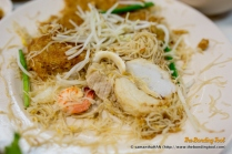 Fish Cake Slices, Pork, Shrimps and Squid were secondary ingredients that went into the carbo dish.