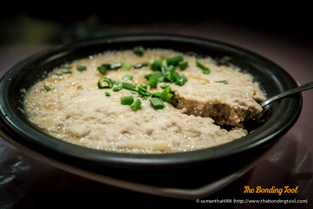 Steamed Meat Patty. The dish had soft texture and the minced water chestnuts provided crunch.