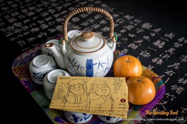 "First day of Spring Festival.<br />My children would do the ""big bow""as they called it and serve their dad and I tea after offering us some Mandarins.<br />We would then accept their gifts and give them ""Hongbao"" (packets with token sum of money for good luck)."