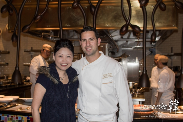 Chef de Cuisine Anthony Alaimo and I (Jan 2014).