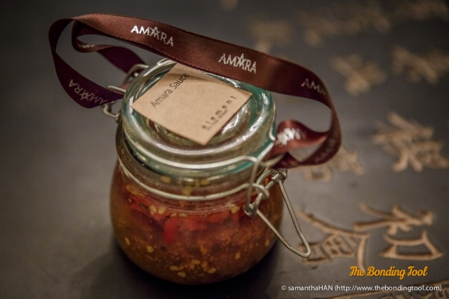 Amara Sauce.<br />This was a door gift for bloggers to bring home. I haven't had a chance to try the sauce as I have been eating out often. It looks like Thai sauce.