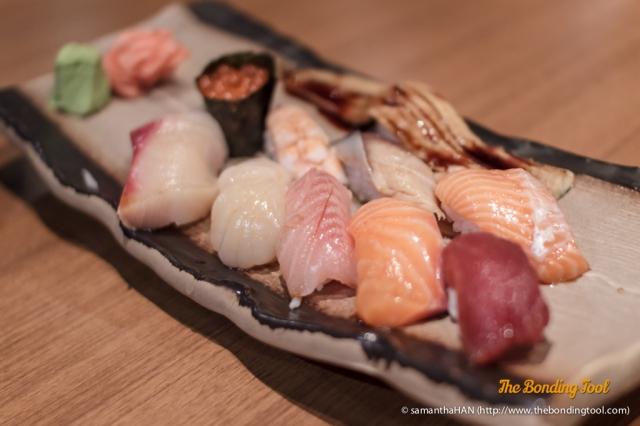 Nigiri Tokumori. Assorted sushi.