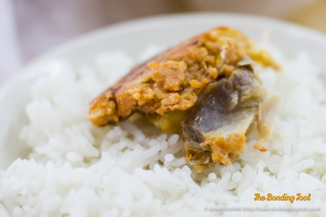 Fish Otak Otak is a mixture of spicy paste, eggs and fish meat.