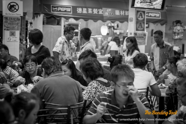 The place is always crowded.