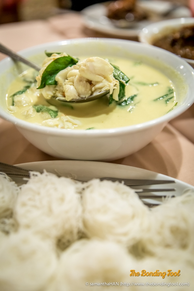 Creamy Crabmeat Curry with Vermicelli (Kanom Jeen) is the signature dish and to many, their best specialty.
