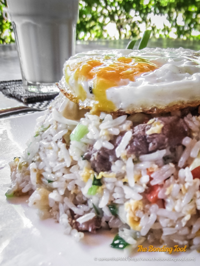 Thai Fried Rice with Beef.
