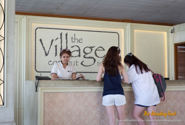 Registering ourselves was quite hassle-free and quick. The Village is a 5 star luxury beach resort located on Coconut Island just off the East Coast of Phuket.