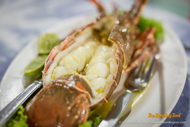 Lobster baked with Butter.