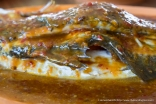 Steamed Sea Bass with Assam Gravy.
