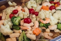 Mixed Vegetables with Squid and Prawns.
