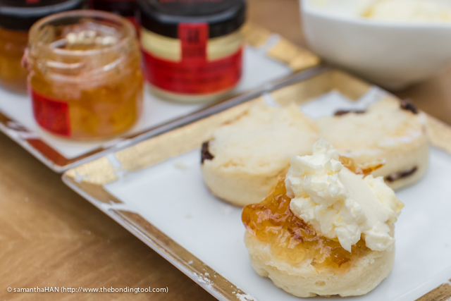 Followed by the scones the size of the jam jars.