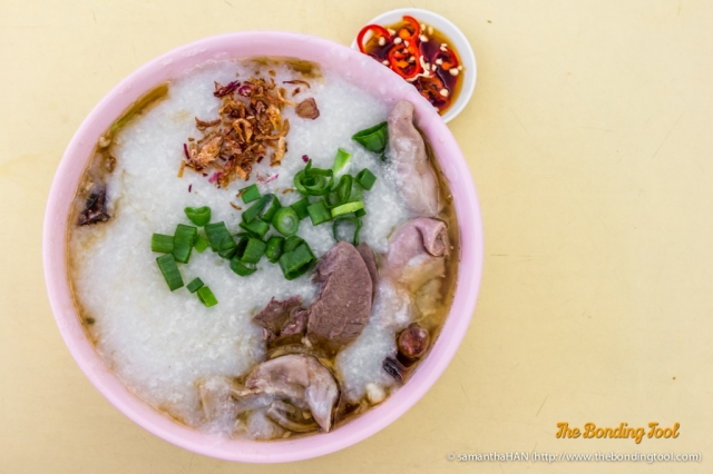 Classic Cantonese-style congee where rice is simmered till they disintegrate into smooth and creamy consistency.