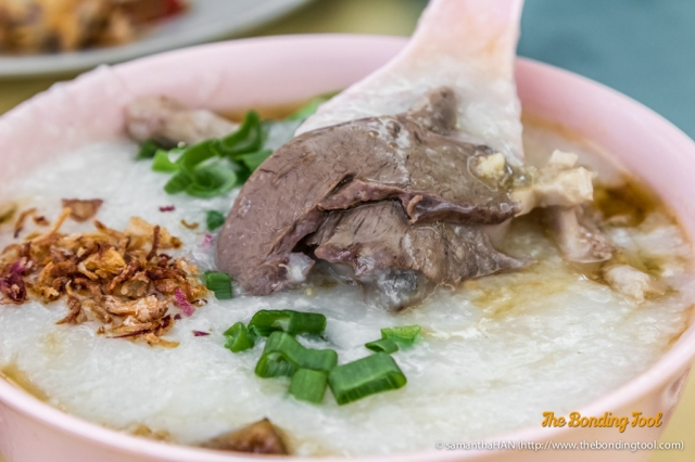 状元及第粥 or Mixed Pork Porridge with offals.