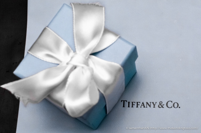 Robin's egg blue box with white bow - The iconic packaging that has been reported to make women swoon and men sweat!
