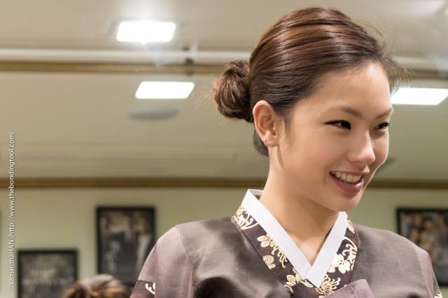 Hanbok fitting.