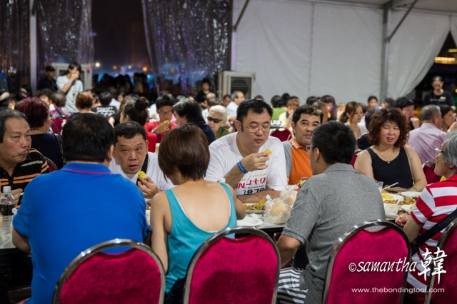Durian lovers at Sands Fruit Festival 2014.