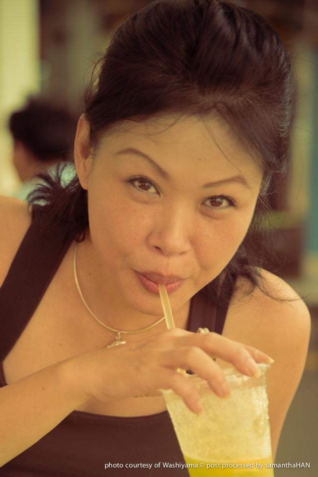 Finishing up with a drink of Sugarcane and lemon at Blk 4A Jalan Batu.