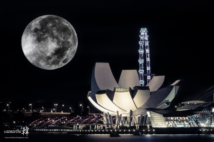 Supermoon in Singapore 11th August 2014 (2:54:24am)