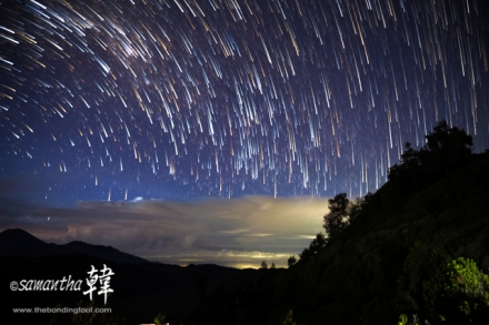 Star Trails Mt. Bromo