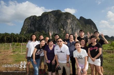 Group photo at Gua Charas Cave