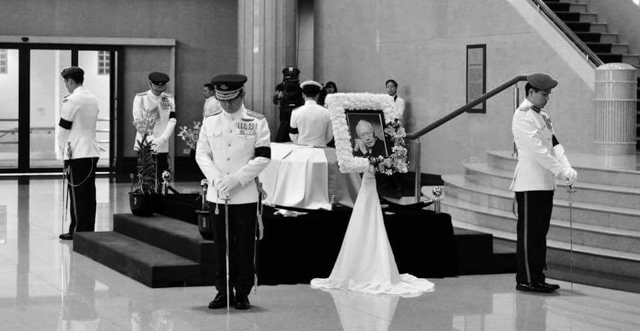 Lee Kuan Yew Lying In State. Image found on Facebook.