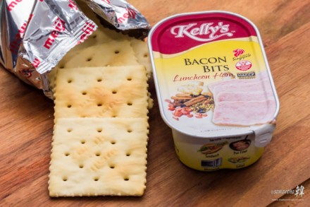 Kelly's Luncheon Meat Meiji Saltine Crackers