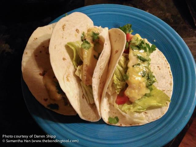 Darren Shipp's Fish Taco with Aioli Habanero Sauce
