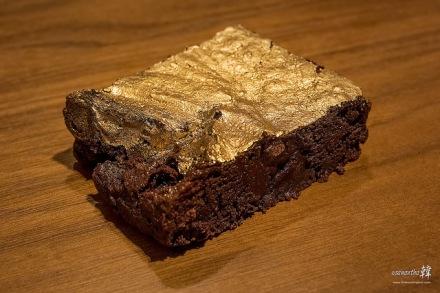 Chalk Farm 24 Karat Edible Gold Dust Brownie.
