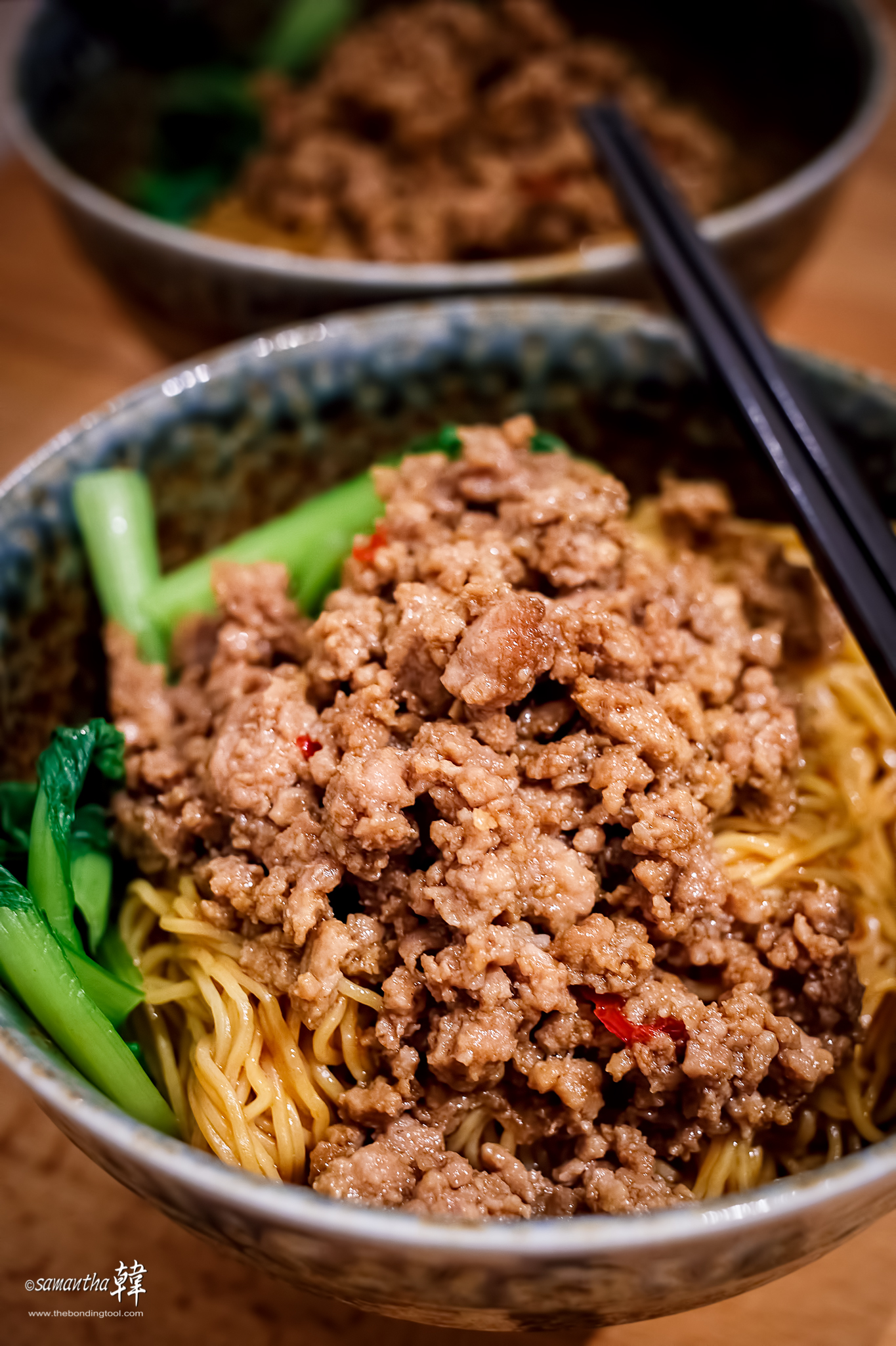 The recipe for drying with minced meat