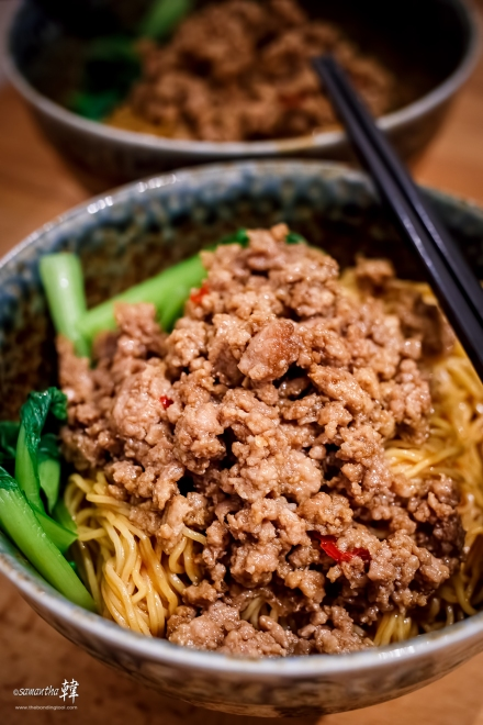 This stir-fried mince is also good with plain rice.